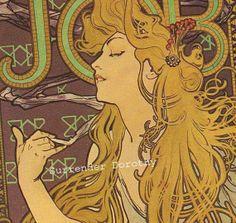 Alfons Mucha Job Cigarettes
