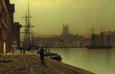 Gloucester Docks by John Atkinson-Grimshaw 1880-90