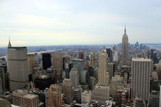 Cityscape New York, NYC art, Manhattan skyline, Empire State Building, New York City, US, photo 5x7 (13x18)