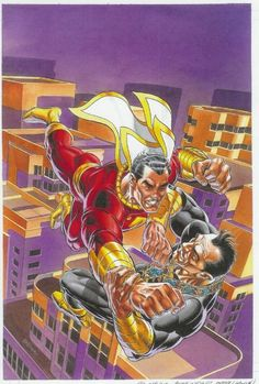 The Power of Shazam TPB cover by Jerry Ordway