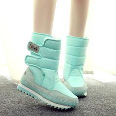 女性雪のブーツ大きいサイズ35-41冬のブーツ靴スーパー暖かい豪華なブーツプラットフォーム8色ファッション女性靴9c05