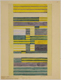 Design for Wall Hanging--Anni Albers -1925. Gouache on paper
