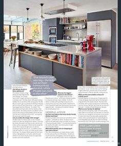 Family kitchen in living etc magazine
