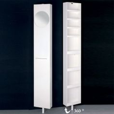 tall swivel mirrored bathroom cabinet - Google Search | I need this ...