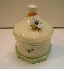 Crown Devon Honey Pot