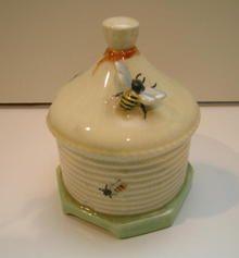 Crown Devon Honey Pot