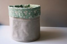 DIY Fabric Bucket step by step tutorial- What kind of bins do you use to organize your stuff?