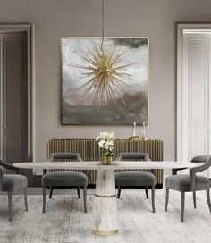 Top Luxury Dining Rooms ➤Discover more interior design trends and news at www.bestdesignguides.com #bestdesigntrends #designguides #DiningRoomTrends #Luxurydiningrooms @bestdesignguides #bestdesignguides @luxxu #luxurylighting #classiclighting #luxxu