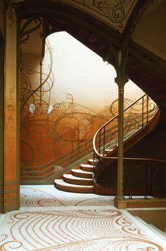 #escalier Maison #Tassel, rue Emil Janssens, #Brussels #Belgium #artnouveau #Horta