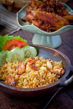 Crab fried rice, nasi goreng kepiting recipe