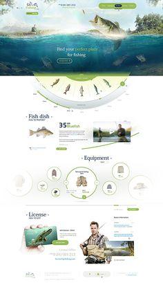 #GoFishing / GoHunting by Mateusz Parfian, via Behance #web #design #webdesign #water #ui