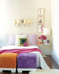 Southampton bedroom of Reed and Delphine Krakoff, nice Saarinen side table