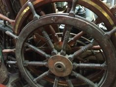 Authentic ship wheels And steering stands