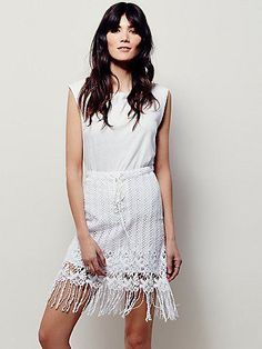 Free People Cool Girl Lace Skirt at Free People Clothing Boutique