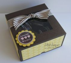 Cupcake Box made with Stampin' Up! products by www.ministamper.com
