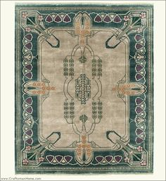 Arts And Crafts Rug (Craftsman Style Carpet), By The Persian Carpet, 100