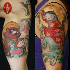 Tattooed by Jee Sayalero (HumanFly Studio)
