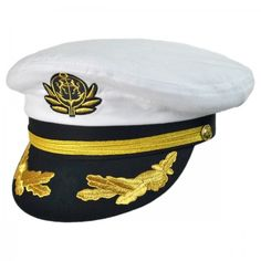 Village Hat Shop Deluxe Yacht Cap Captain Hat 54bbd6cc9d5