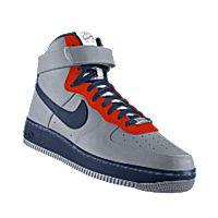 I designed the silver, dark blue and orange Illinois Fighting Illini Nike Air Force 1 High iD women's shoe.
