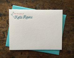 Personalized Letterpress Stationery Set by PaintedPonyPress