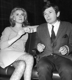 Catherine Deneuve and Roman Polanski at the premiere of Repulsion, 1966