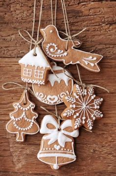 Christmas | Xmas | Jul | Noel. DIY: Decoration. Gingerbread Ornaments