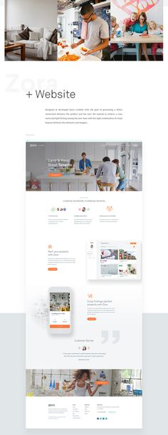 User experience, user interface, fully responsive design and front end development for Zora the rental app from Canada.