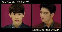 DRAMA CLUB: TRIANGLE 15-yes, came for the eye candy..stayed for the drama. Jae joong makes a great bad boy.