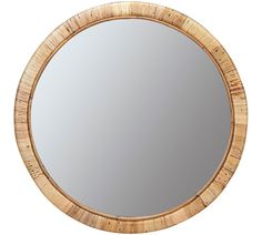 Like the jack-of-all-trades for decor, rattan looks great with virtually any style, from boho to coastal to traditional. Crafted with a rattan frame and gleaming glass, the Hadley Wooden Round Wall Mirror adds an air of effortless elegance whereve… Large Round Mirror, Circular Mirror, Round Wall Mirror, Mirror Art, Round Mirrors, Mirror Glass, Shell Mirrors, Coastal Mirrors, Rustic Mirrors