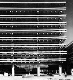 Visions of an Industrial Age: Kagawa Prefecture Administration Building, Takamatsu, Japan. Kagawa, Japan Architecture, Architecture Design, Classic Architecture, Contemporary Architecture, Luigi Snozzi, Osaka, Kenzo Tange, Concrete Structure