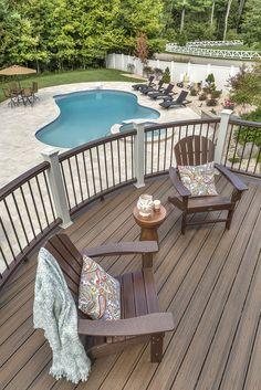 Trex Deck Design Ideas custom irregular trex composite deck design utah contractor A Pool Is The Perfect Accessory For A Trex Deck Deck Backyard