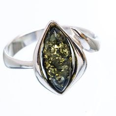Ana Silver Co Genuine Green Baltic Amber 925 Sterling Silver Ring Size 9 Jewelry