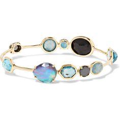 Ippolita Rock Candy Open Gelato Kiss 18-karat gold multi-stone... (€4.920) ❤ liked on Polyvore featuring jewelry, bracelets, gold, rock jewelry, bangle bracelet, ippolita, 18 karat gold jewelry and 18k jewelry