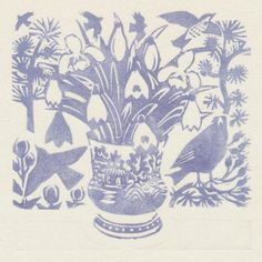 """Snowdrops, woodblock print, 15 x 15cm"" Matt Underwood via Twitter"