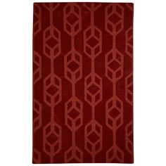 Seneca Hand-Tufted Red Area Rug