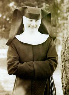 rare photo of Sister Maria Innocentia Hummel..Sister Maria Innocentia Hummel was an artist and a totally devoted Franciscan nun. Her life and artistic creation were imbued with Franciscan spirituality. Her direct relation to people, to nature and especially to children is clearly visible in all her works.  Hummel figurines.