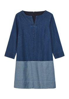 Women's CHAMBRAY TUNIC DRESS