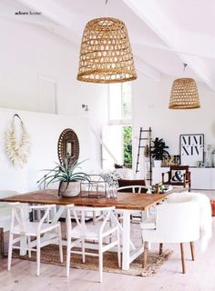 Love the hanging basket lites. Wonder if could be made for dining room.