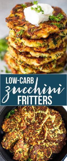 Crispy Keto Low Carb Zucchini Fritters (2 Net Carbs!)  can be fried, baked, or Air-fried to give you the perfect appetizer for any occasion. They are filled with cheese, seasonings, fresh parsley, and lots of healthy zucchini.
