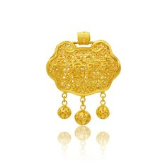 Paying respect to the Qing dynasty and celebrating the joyous occasion of a new baby, Lao Feng Xiang introduces the 24K gold baby collection. Each piece bringing a modern interpretation to a traditional blessing.  24K fancy baby tassel lock can be worn on a knotted cord or with a 24K gold chain. 24k Gold Chain, 24k Gold Jewelry, Gold Chains, Qing Dynasty, Blessing, Filigree, Respect, New Baby Products, Cord