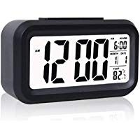 Inside Collection Digital Smart Backlight Battery Operated Alarm Table Clock With Automatic Sensor Date Temperature Br 7 Insi Clock Sound Clock Alarm Set