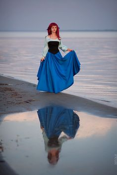 Disney Character Cosplay Ariel The Little Mermaid Cosplay Print Disney Cosplay, Disney Princess Cosplay, Ariel Cosplay, Disney Princess Dresses, Disney Prince Costume, Princess Costumes, Ariel Halloween Costume, Ariel Costumes, Halloween Cosplay