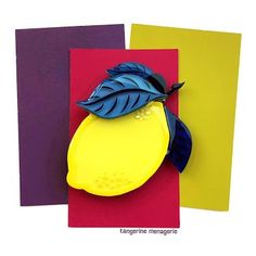 Tangerine Menagerie is a brand of colorful, cheerful handmade brooches inspired by the novelty brooches of the and Brooches Handmade, Lemon, It Is Finished, Hand Painted, Crystals, Clear Resin, Painting, Layers, Summer Outfits