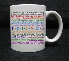 friends tv show quotes central perk tv series mug cup two side ceramic 11oz