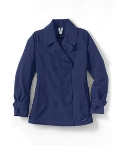 Cozy sweaters, cute jackets, festive lingerie make perfect gifts. Pictured here: Women's Squall Peacoat, LANDS' END.