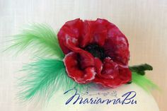 "Felt brooch ""Red poppy"" - pinned by pin4etsy.com"