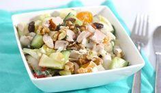 Salade met witlof, mandarijn en gerookte kip