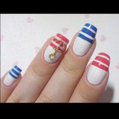 Girly Sailor Nails