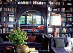 Books are essential and can be used everywhere. (Interior design tip by @rw2nyc)