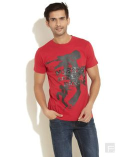 d5cef8a0 Trendy metallic embossed print tee men Men t-shirt is made from cotton  material Print